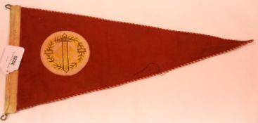 German Third Reich type SA Sports pennant, stamped and dated 1934, L: 49 cm. P&P Group 1 (£14+VAT