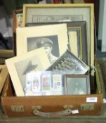 Mixed British WWI type photographs and correspondence, some in period frames, from a single family