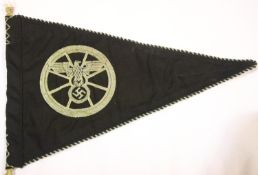 German WWII type NSKK pennant, L: 34 cm. P&P Group 1 (£14+VAT for the first lot and £1+VAT for