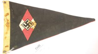 German WWII type Hitler Youth pennant, stamped and dated 1941, L: 30 cm. P&P Group 1 (£14+VAT for