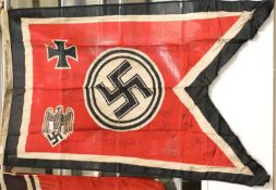 German WWII type Wehrmacht battle flag, 150 x 90 cm. P&P Group 1 (£14+VAT for the first lot and £1+
