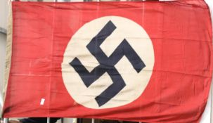 German WWII type Nazi Party flag, 135 x 80 cm. P&P Group 1 (£14+VAT for the first lot and £1+VAT for