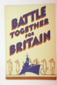WWII type British Home front information book on what the Nation can do for the War effort. P&P