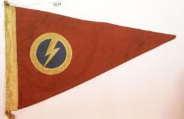 British WWII type Union of Fascists pennant, L: 39 cm. P&P Group 1 (£14+VAT for the first lot and £