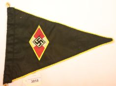 German Third Reich type Hitler Youth pennant, L: 30 cm. P&P Group 1 (£14+VAT for the first lot