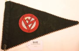 German Third Reich type SA pennant, L: 29 cm. P&P Group 1 (£14+VAT for the first lot and £1+VAT