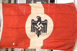 German WWII type Wehrmacht parade flag, 150 x 90 cm. P&P Group 1 (£14+VAT for the first lot and £1+