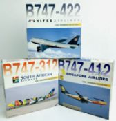 3x Dragon Wings 1:400 Airliners - To Include: South African Airways 747-312, United 747-422,