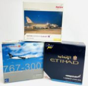 3x Herpa / Dragon / Gemini 1:400 Airliners - To Include: Qatar A300-600, Eithad A330-200, Air Canada
