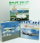 3x Dragon Wings 1:400 Airliners - To Include: Northwest Airlines 747-451, Emirates Sky Cargo 747-
