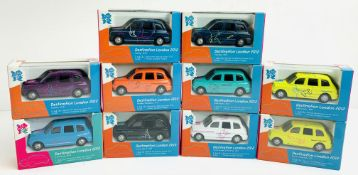 10x Corgi '2012 London Olympics Taxi' - All Boxed. P&P Group 2 (£18+VAT for the first lot and £3+VAT