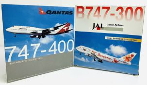 2x Dragon Wings 1:400 Airliners - To Include: JAL Japan Airliners 747-300, Quantas 747-400 -