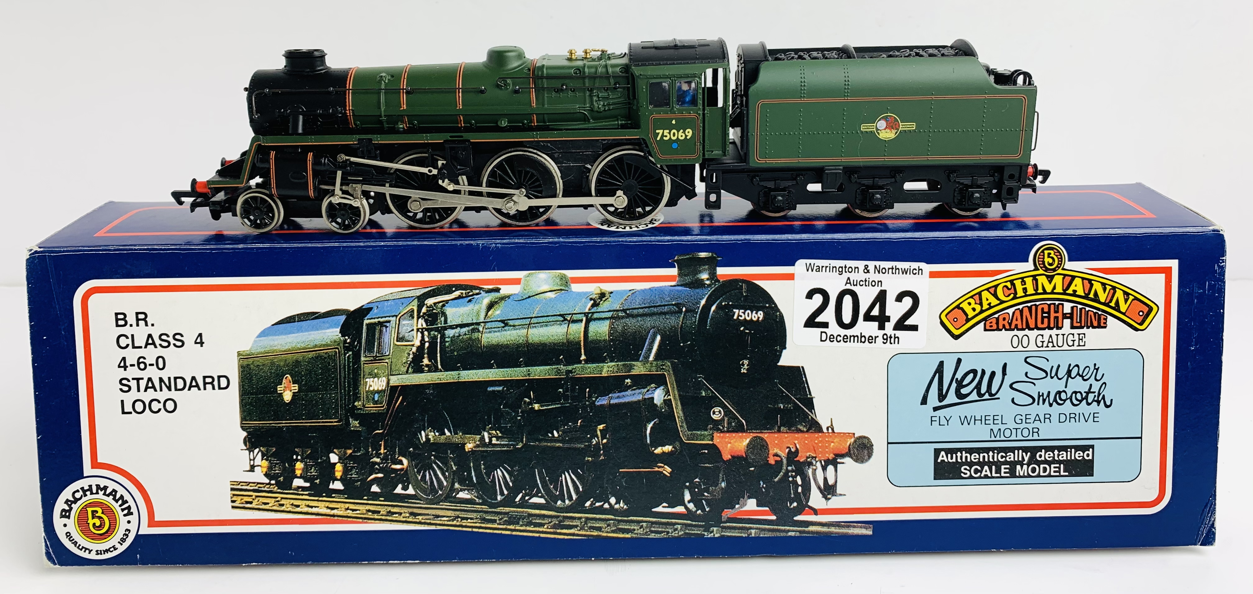 Bachmann 31-104 BR Class 4 BR Green Loco - Boxed P&P Group 1 (£14+VAT for the first lot and £1+VAT