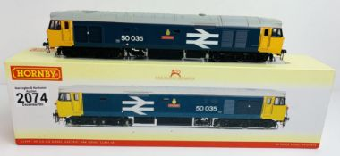 Hornby R2349 Class 50 035 'Ark Royal' BR Large Logo - Boxed P&P Group 1 (£14+VAT for the first lot
