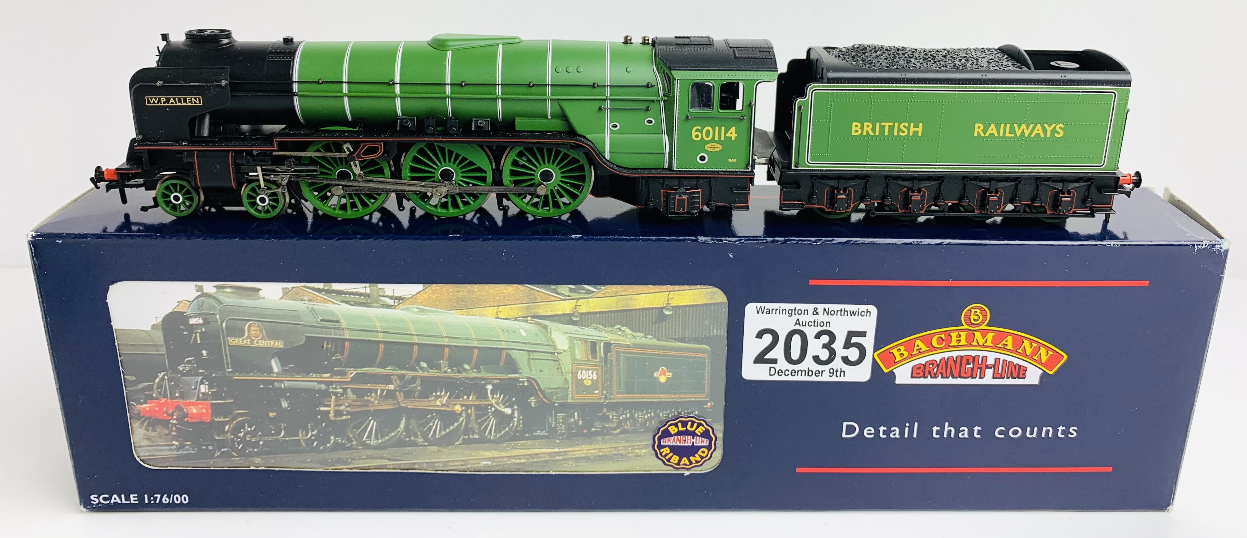Bachmann 32-554 Class A1 60114 'W P Allen' Doncaster Green British Railways Loco - Boxed P&P Group 1
