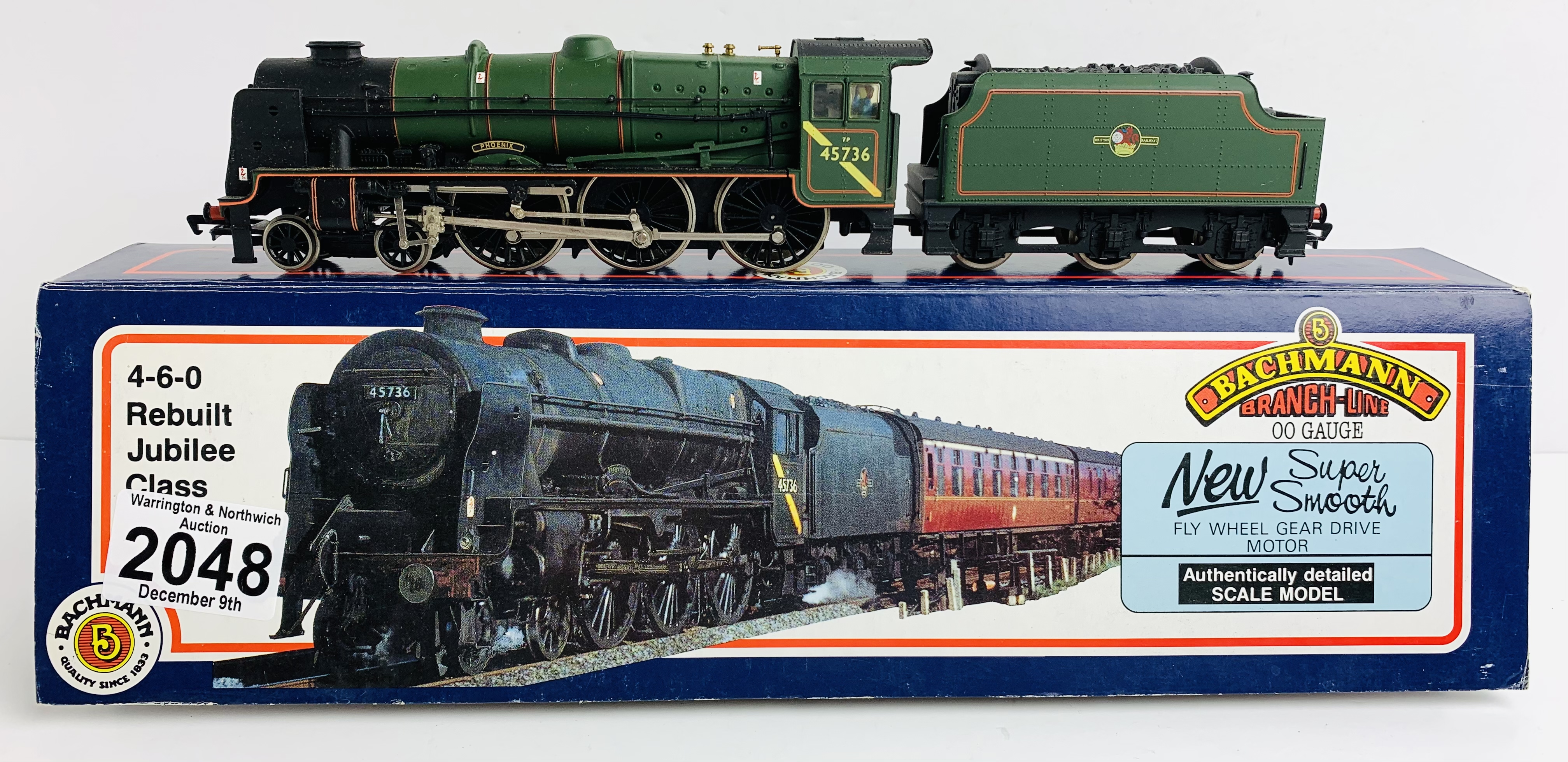 Bachmann 31-251 4-6-0 Jubilee Class 'Phoenix' BR Green - Boxed P&P Group 1 (£14+VAT for the first