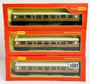 3x Triang / Hornby LNER Teak Coaches - All Boxed. P&P Group 2 (£18+VAT for the first lot and £3+