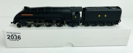 Bachmann A4 Class 'William Whitelaw' NE Wartime Black No.4 - Supplied in Custom Plain White Box P&