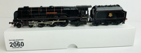 Hornby OO Gauge 46238 'City of Carlisle' Repainted Gloss Black - Supplied in Plain White Box P&P