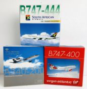 3x 1:400 Scale Aircraft - Dragon Wings - Including 747 & A340 - Virgin, South African, Royal