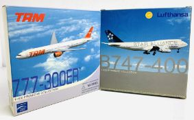 2x Dragon Wings 1:400 Airliners - To Include: Lufthansa 747-400, TAM 777-300ER - Boxed, P&P Group