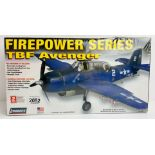 Lindberg FirePower Series TBF Avenger Model Kit 1/48 Kit - Boxed P&P Group 1 (£14+VAT for the