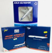 3x Gemini Jets 1:400 Airliners - To Include: Air India 777-200ER, Delta 777-200LR, ANA 777-381 -