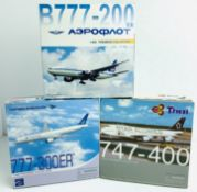 3x Dragon Wings 1:400 Airliners - To Include: Garuda Indonesia 777-300ER, Areoflot 777-200ER, Thai