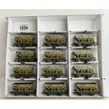 12x Bachmann OO 22 Ton 'Iron Ore' Wagons - Weathered Finish. P&P Group 3 (£25+VAT for the first