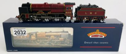 Bachmann 31-281 P/Boiler Scot 6155 'The Lancer' LMS Crimson 3500 Gal Tender - Boxed P&P Group 1 (£
