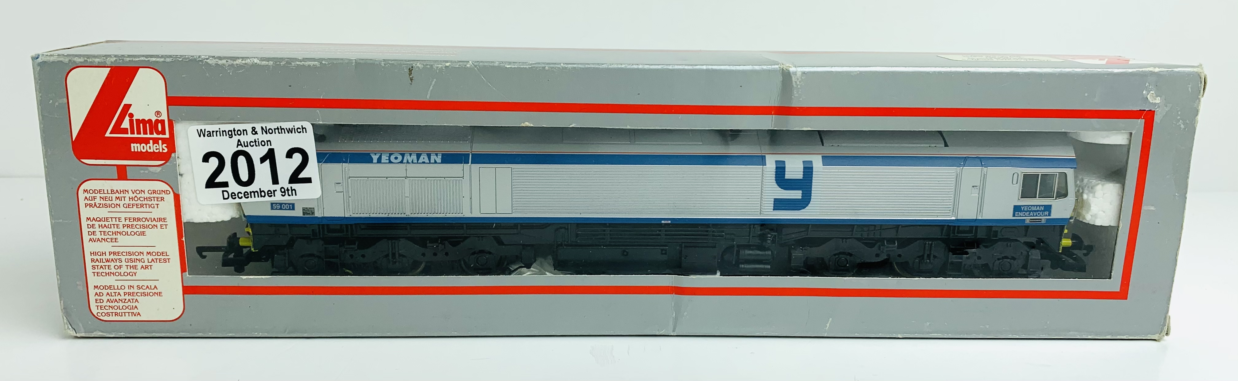 Lima Class 59 001 'Yeoman' Livery Yeoman Endeavour Loco - Boxed P&P Group 1 (£14+VAT for the first