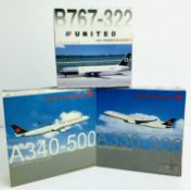 3x Dragon Wings 1:400 Airliners - To Include: Air Canada A330-300, Air Canada A340-500, United