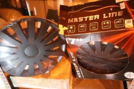 "Set of four 17"" master line wheel trims, new old stock. Not available for in-house P&P"