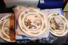 Aynsley Scenes For the Festive Season 1983-85 (three plates). Not available for in-house P&P