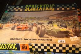 Vintage Scalextric motor racing set 50, lacking cars. Not available for in-house P&P