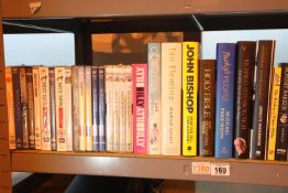 Biographies including Ian Fleming and a selection of CDs including Fawlty Towers. Not available