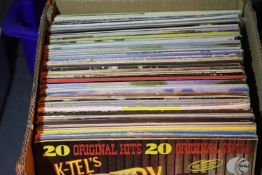 Box of mixed Easy Listening LPs. Not available for in-house P&P