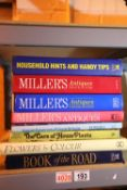 Selection of hardback referencing books to include Millers. Not available for in-house P&P