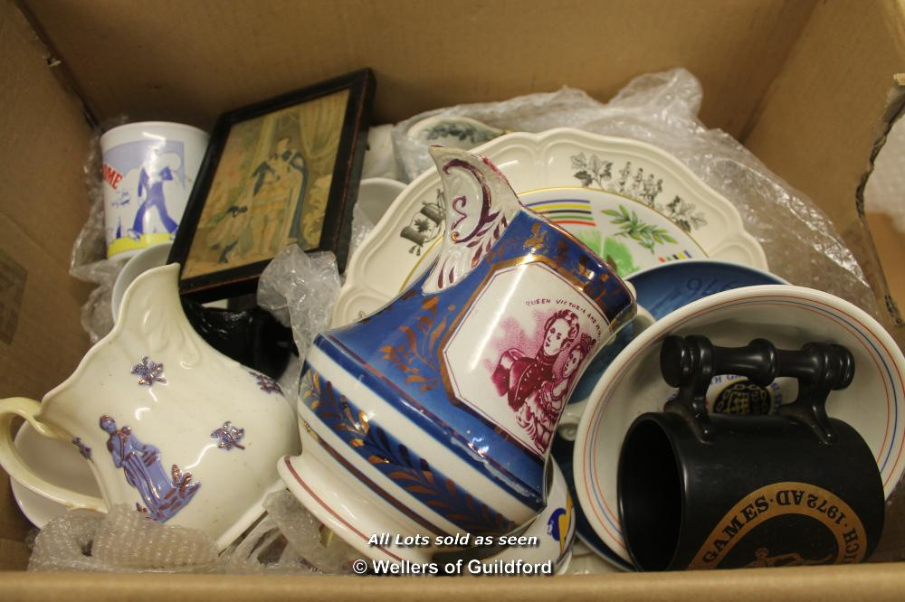 Lot 7400 - *Commemorative wares to include warm Olympics and early Victorian royal wares.