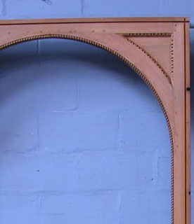 Lot 10 - *PINE WINDOW SURROUND WITH EGG AND DART MOULDING. HEIGHT 2.85M (112IN) X WIDTH 1540MM (60.75IN) X