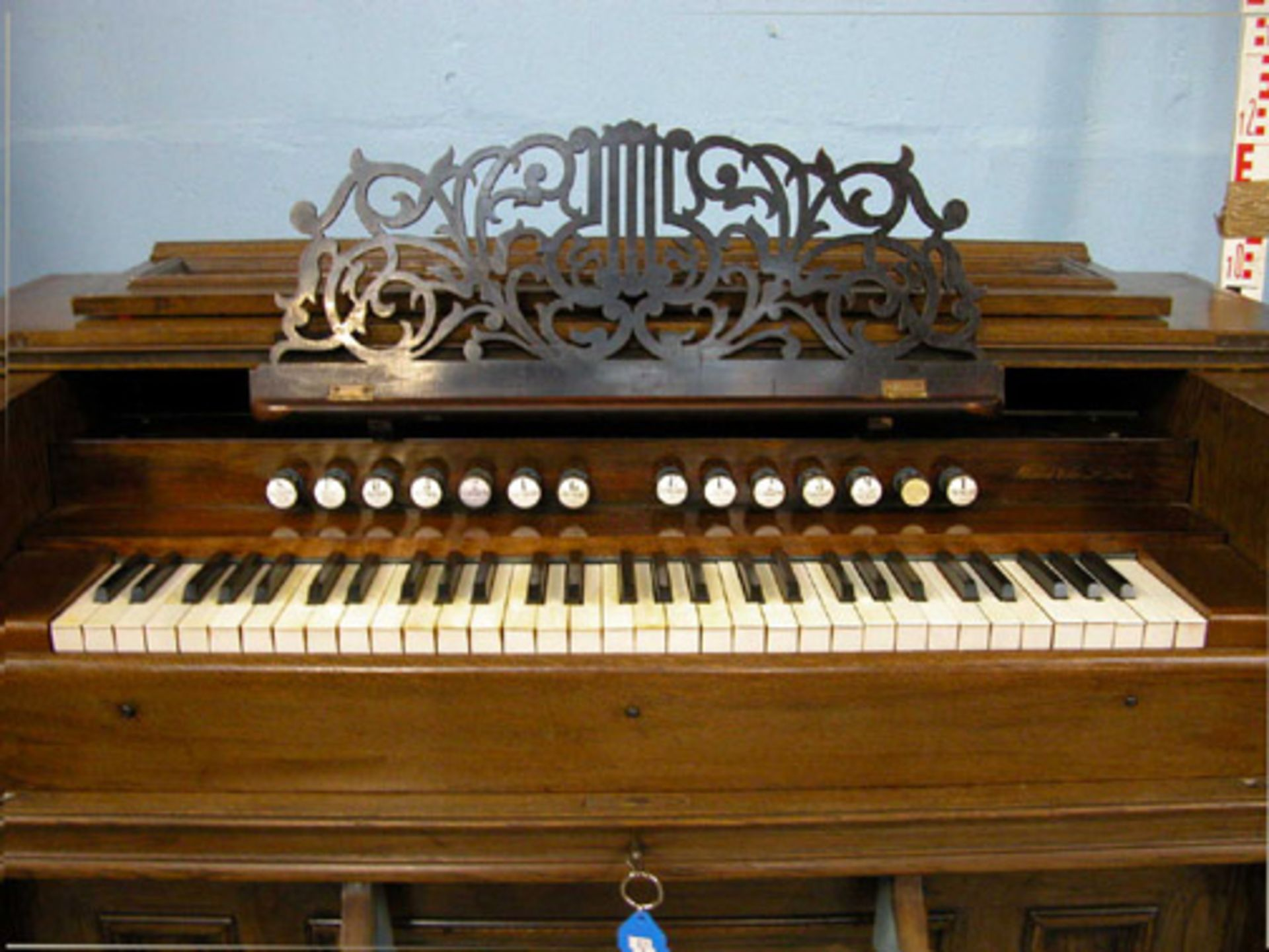 Lot 41 - *FRENCH REED ORGAN, FULLY RESTORED, EARLY 1900S. HEIGHT 995MM (39.5IN) X WIDTH 1280MM (50.25IN) X