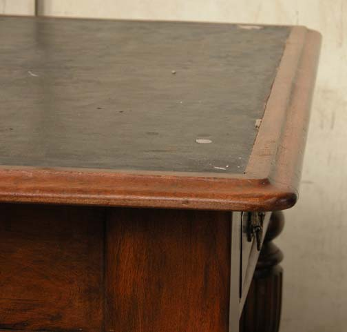 Lot 18 - *VICTORIAN MAHOGANY AND BEECH LIBRARY TABLE, CIRCA 1890. HEIGHT 750MM (29.5IN) X WIDTH 1115MM (44IN)
