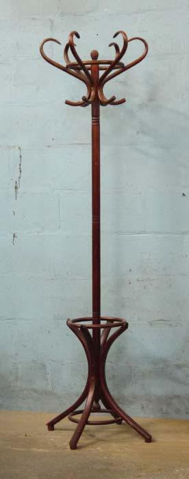 "Lot 33 - *BENTWOOD COAT STAND. 1960MM ( 77"" ) HIGH X 600MM ( 24"" ) DIAMETER [0]"