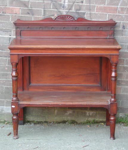 Lot 23 - *MAHOGANY BUFFET/SERVER, LATE 1800S. HEIGHT 1185MM (46.5IN) X WIDTH 1080MM (42.5IN) X DEPTH 520MM (