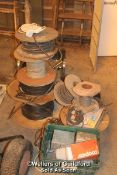 JOB LOT OF MAINLY REELS OF CABLE