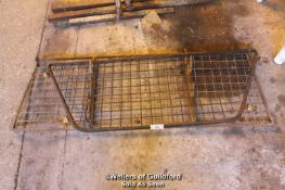 OLD WROUGHT IRON RACK AND GUARD