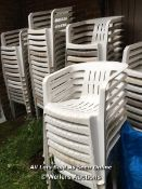 APPROX X60 WHITE PLASTIC GARDEN STYLE / EVENT CHAIRS