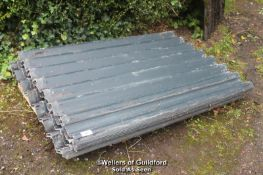 LARGE QUANTITY OF CORRUGATED CEMENT CLADDING INC. X20 9FT SHEETS, X20 5FT SHEETS AND X16 5FT CLEAR