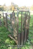 CATTLE CRUSH AND GATE (APPROX 9') - BUYER TO DISMANTLE - LOCATED IN FIELD