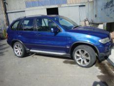 BMW X5 DIESEL CAR. REG NO SP06XKH.